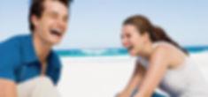 Couple Rire à la plage