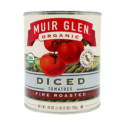 Muir Glen Fire Roasted Diced Tomatoes (28 oz)