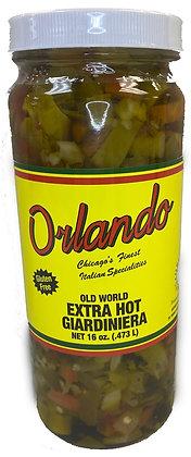 Orlando Extra Hot Giardiniera (16 oz)