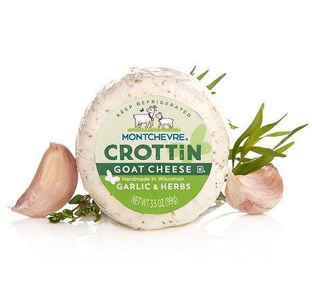 Montchevre Crottin Garlic & Herbs Goat Cheese