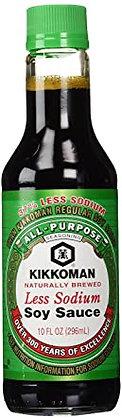 Kikkoman Less Sodium Soy Sauce (10 oz)