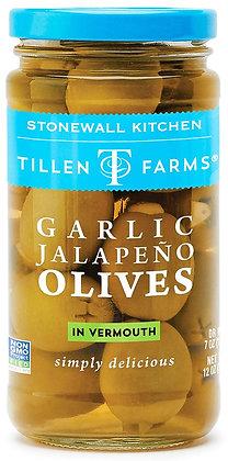 Tillen Farms Garlic Jalapeno Olives