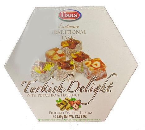 Usas Turkish Delight with Hazelnut & Pistachio