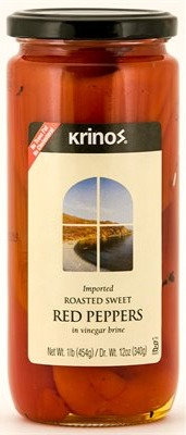 Krinos Roasted Red Peppers