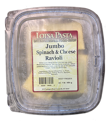 Jumbo Spinach & Cheese Ravioli