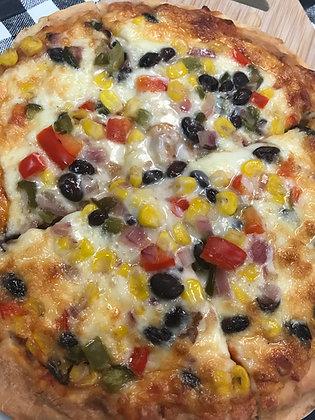 Black Bean & Corn Salsa Pizza