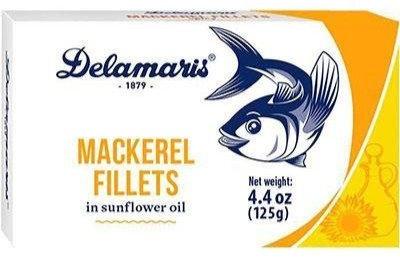 Delamaris Mackerel Fillets in Sunflower Oil