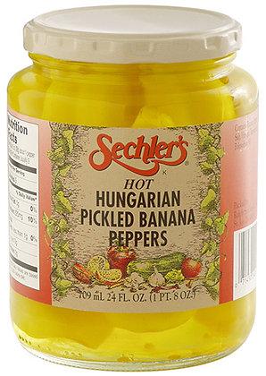 Sechler's Hot Hungarian Pickled Banana Peppers