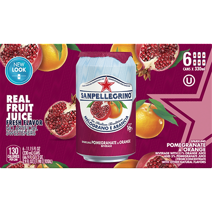 San Pellegrino Pomegranate Orange (6 pack)