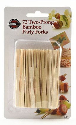 Bamboo Two-Prong Party Forks (72 ct)