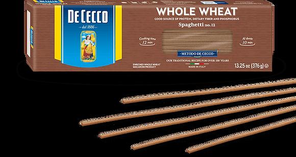 DeCecco Whole Wheat Spaghetti #12
