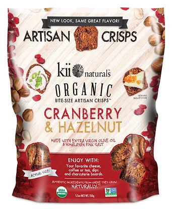 Kii Naturals Cranberry & Hazelnut Artisan Crisps