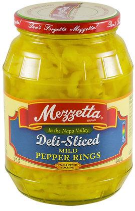 Mezzetta Deli-Sliced Mild Pepper Rings (32 oz)