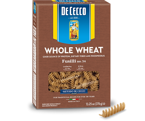 DeCecco Whole Wheat Fusilli #34