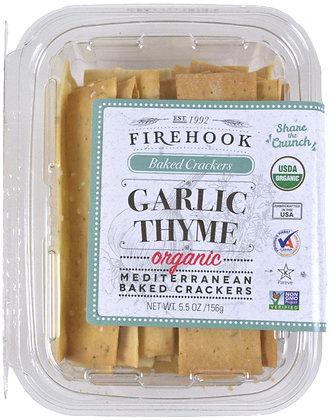 Firehook Garlic Thyme Crackers