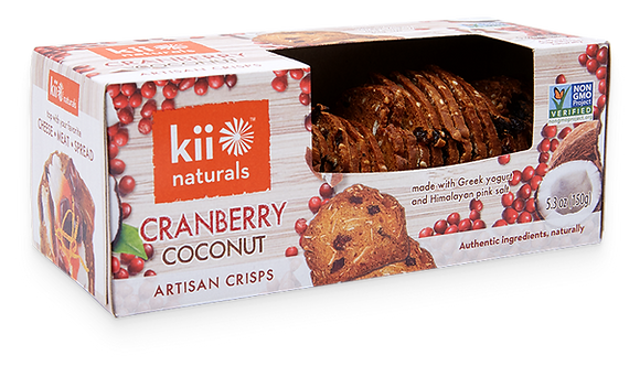 Kii Naturals Cranberry & Coconut Artisan Crisps