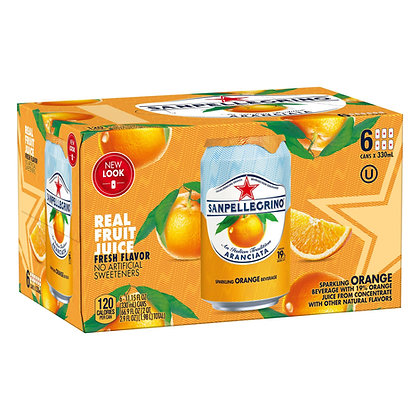 San Pellegrino Aranciata/Orange (6 pack)