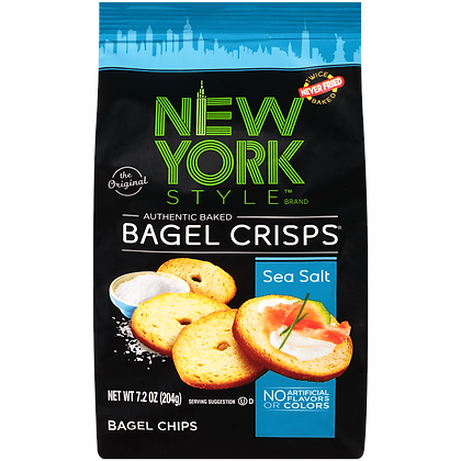 New York Style Bagel Crisps - Sea Salt