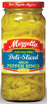 Mezzetta Deli-Sliced Mild Pepper Rings (16 oz)