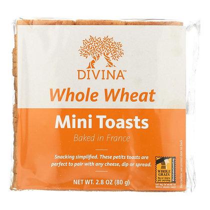 Divina Whole Wheat Mini Toasts