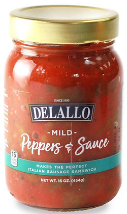 Delallo Mild Peppers & Sauce