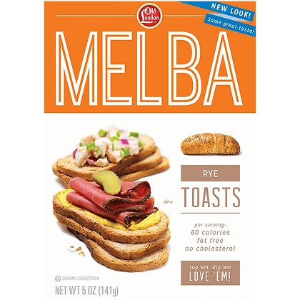 Old London Melba Rye Toast