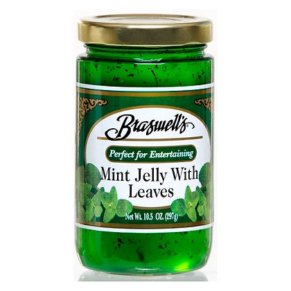 Braswell's Mint Jelly with Leaves