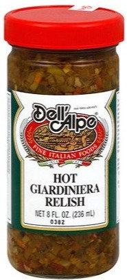 Dell 'Alpe Hot Giardiniera Relish (8 oz)