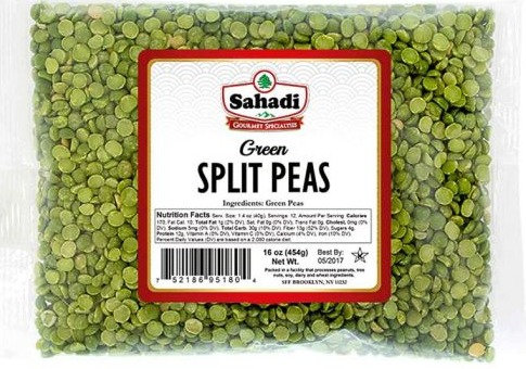 Sahadi Green Split Peas