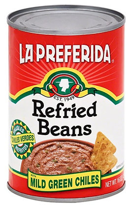 La Preferida Refried Beans with Mild Green Chiles