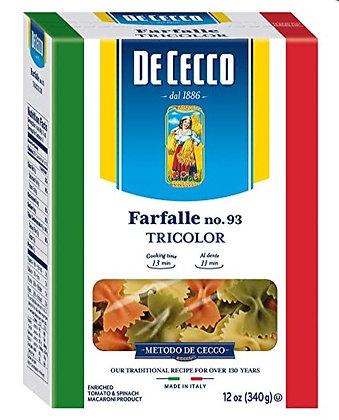 DeCecco Tri-color Farfalle #93