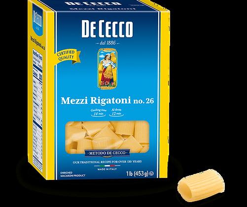 DeCecco Mezzi Rigatoni #26