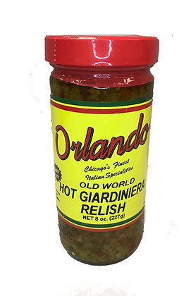 Orlando Hot Pepper Spread / Giardinera Relish (8 oz)