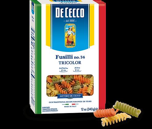 DeCecco Tri-color Fusilli #34