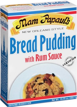 Mam Papaul's Bread Pudding Mix w/ Rum Sauce