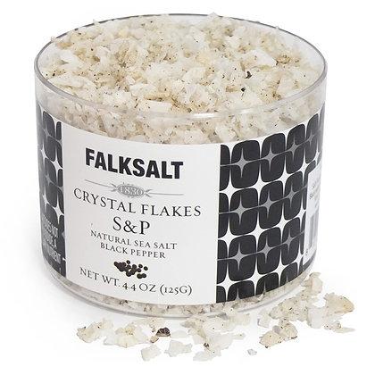 Falksalt Salt & Pepper Sea Salt Crystal Flakes