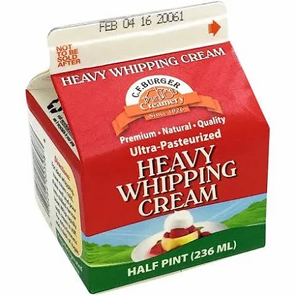 CF Burger Heavy Whipping Cream (1/2 pint)