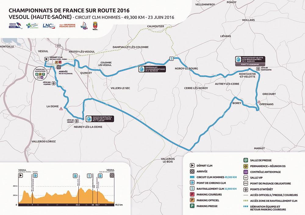 Championnats de France sur route 2016 Vesoul