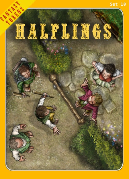 Fantasy Tokens Set 10, Halflings