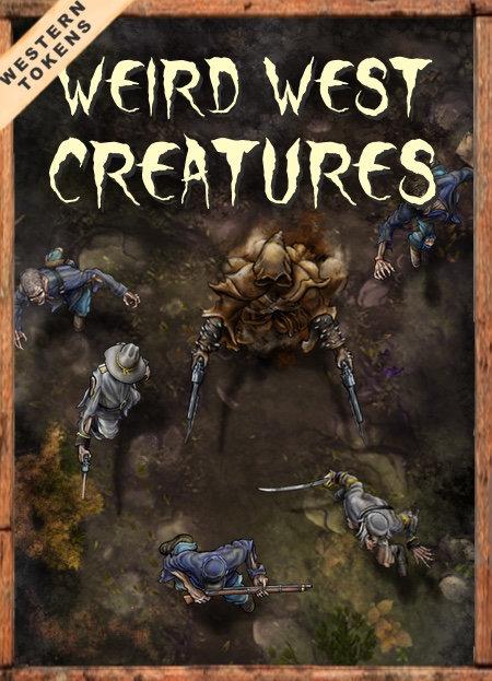 Western Tokens Set 8, Weird West Creatures
