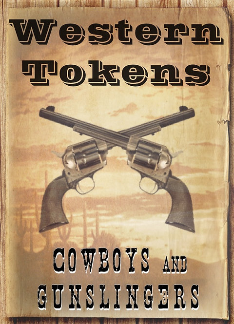 Western Tokens Set 1, Cowboys and Gunslingers