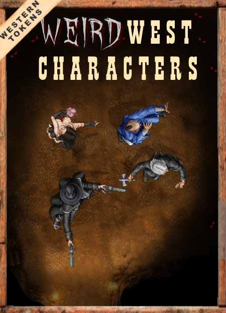 Western Tokens Set 7, Weird West Characters