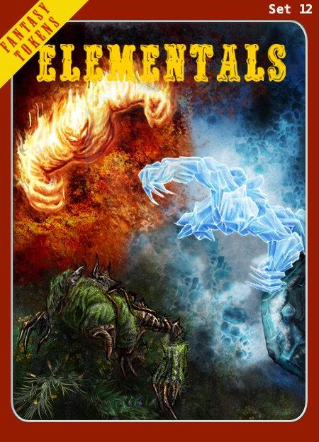 Fantasy Tokens Set 12, Elementals
