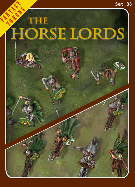 Fantasy Tokens Set 38, The Horse Lords