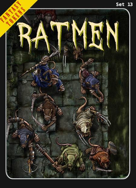 Fantasy Tokens Set 13, Ratmen
