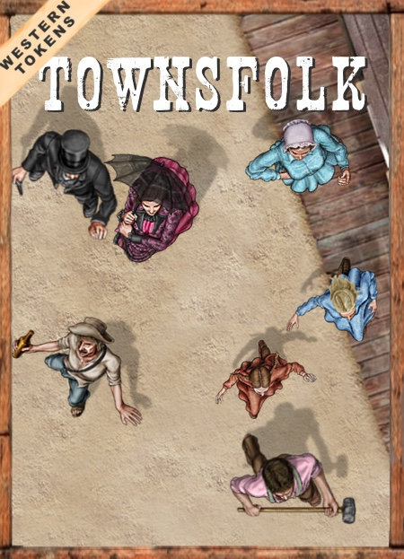 Western Tokens Set 6, Western Townsfolk