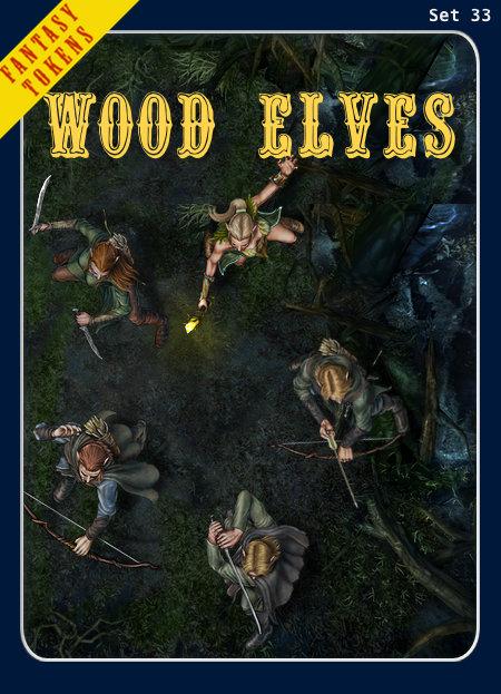 Fantasy Tokens Set 33, Wood Elves
