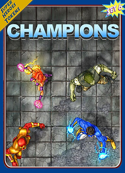 Superheroes Tokens Set 6, Champions