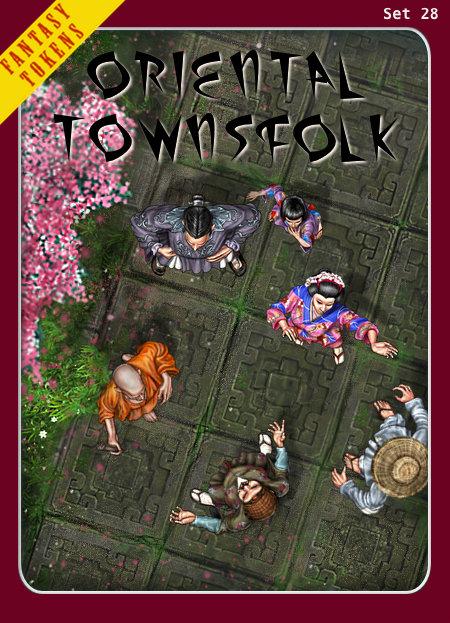 Fantasy Tokens Set 28, Oriental Townsfolk
