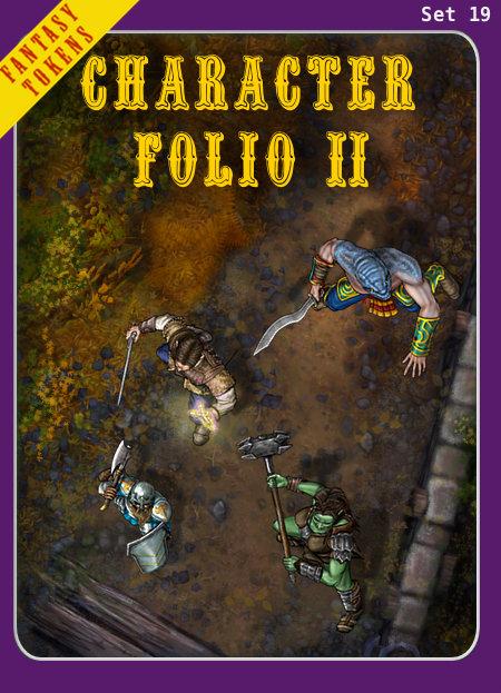 Fantasy Tokens Set 19, Character Folio 2